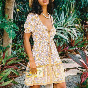 ARNHEM Honey Mini Dress in Coconut Cream BNWT